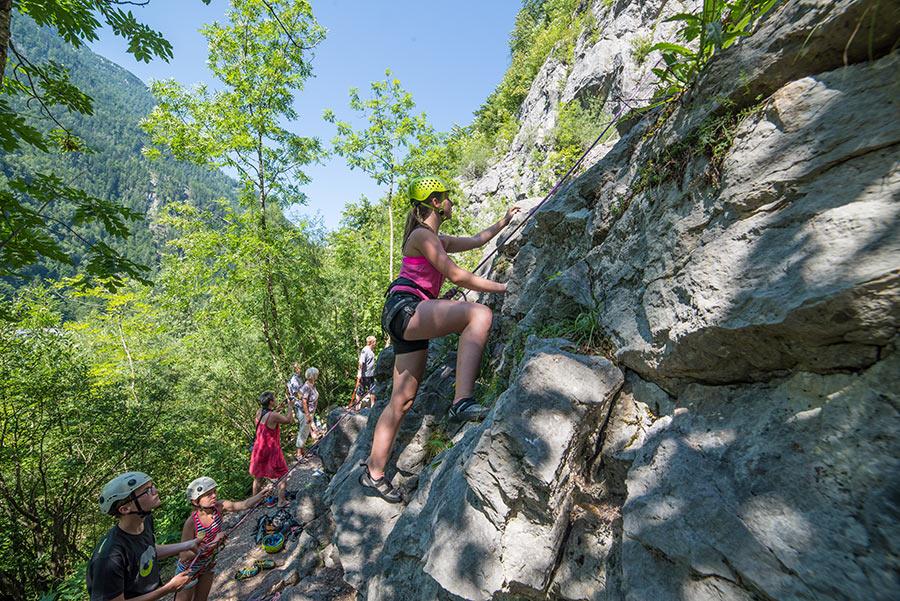 Klettersteig Salzburg : Alpenverein salzburg hausbachfall klettersteig